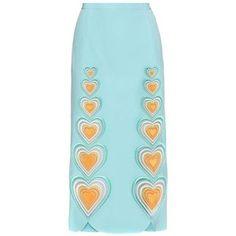 Christopher Kane Love Hearts Crêpe Skirt