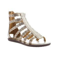 16795c43f Women s Nicole Zola Gladiator Sandal - Gold Synthetic Casual ( 49) ❤ liked  on Polyvore