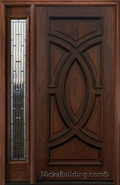 entry door with sidelights | Exterior Doors with One Sidelite - Solid Mahogany Doors - Wood Doors 6 ...