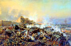 Russian troops defending Sevastopol, Crimean War
