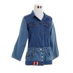 use old jeans and a vest or denim jacket to create this upcycled piece