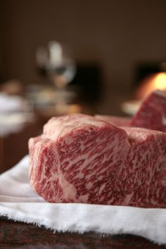 US kobe beef, Wagyu. Available at Laurel Pine, Living Luxury Kobe Beef Restaurant, Steaks, Great Recipes, Favorite Recipes, Wagyu Beef, Waffles, Meat Lovers, Japanese Food, Food For Thought