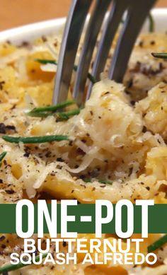 One-Pot Butternut Squash Alfredo