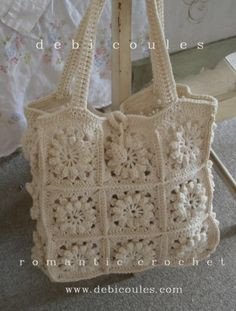 Hand crochet Boho Bag available at www.debicoules.com