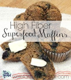 These high fiber muffins are full of superfood ingredients that are delicious & packed with nutrition! They are the perfect breakfast to start your day!