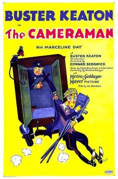 High resolution official theatrical movie poster for The Cameraman Image dimensions: 1647 x Starring Buster Keaton, Marceline Day, Harold Goodwin, Sidney Bracey Old Film Posters, Classic Movie Posters, Cinema Posters, Classic Movies, Marceline, Buster Keaton Movies, Silent Comedy, Physical Comedy, Nostalgia