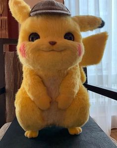 Would You Buy A Detective Pikachu Plush? This looks so real and creepy, but I definitely would get one Cute Pokemon Wallpaper, Disney Wallpaper, Cartoon Wallpaper, Nail Art Sticker, Pokemon Universe, Pikachu Pikachu, Cute Disney, Anime Naruto, Cute Baby Animals