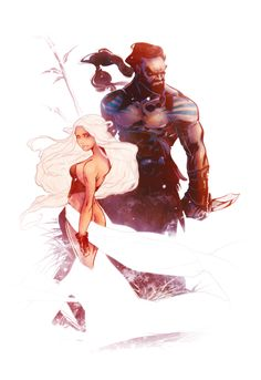 "Daenerys & Drogo from ""Game of Thrones""."