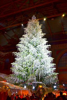 Christmas market with Christmas tree in the big hall at Zurich main station. LIZZY go look at this while you are there and take me some pics