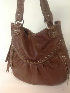 Red By Marc Ecko Hobo Bag Purse Brown Designer Fashion Hip Bohemian