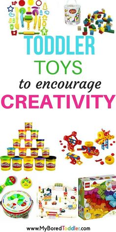 The best toddler toys to encourage creativity and creative play. No batteries required!
