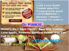 Spell Caster with, Guaranteed Results DR PINKIE - Figany South Africa, Classifieds, Free Classifieds, Online Classifieds Real Magic Spells, Lost Love Spells, Powerful Love Spells, Bring Back Lost Lover, Voodoo Spells, Love Spell Caster, Ab Work, Spiritual Healer, White Magic