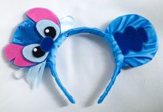 Stitch Inspired Mickey Mouse Headband by InCindysCloset on Etsy