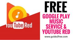 GetFREE 4Months of Google Play Music Service & Youtube Red!! Explore the newGoogle Play Musicnow. You must sign into your Google account to purchase. Upon completion of your 4-Month trial, the monthly rate to continue service is $9.99. You may cancel at any time before your trial end date and still receive the full 4-months of membership benefits without incurring further charges.