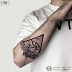 "Explore creative board ""Egyptian Tattoos"" on creativetatto. See more ideas about Egyptian tattoo, Tattoos and Egypt tattoo. Hand Tattoos, Tattoos Arm Mann, Best Sleeve Tattoos, Arm Tattoos For Guys, Forearm Tattoos, Body Art Tattoos, Tattoos For Women, Egyptian Eye Tattoos, Egyptian Tattoo Sleeve"