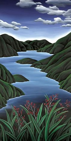 Check out Fiordland Flax Canvas Print by Diana Adams at New Zealand Fine Prints Landscape Prints, Abstract Landscape, Landscape Paintings, Nz Art, Art For Art Sake, New Zealand Landscape, New Zealand Art, Maori Art, Naive Art
