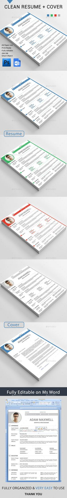 Simple Resume Template CV Design Professional Cv Template and - how to set a resume
