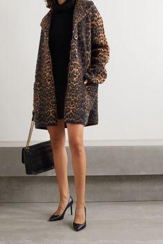 Couture Fashion, New Fashion, London Fashion, Luxury Fashion, Saint Laurent Dress, Coats For Women, Clothes For Women, Best Winter Coats, Leopard Coat