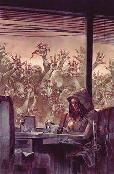 Julian Totino Tedesco - Artwork 13 ч · This is an Exclusive Walking Dead variant cover for Wizard World Ft. Walking Dead Comics, Walking Dead Art, Walking Dead Tv Series, Apocalypse Aesthetic, Apocalypse Art, Arte Zombie, Zombie Art, Arte Horror, Horror Art