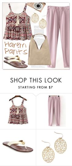 """""""Harem Pants"""" by cilita-d ❤ liked on Polyvore featuring WithChic, Tory Burch, INZI and Guide London"""