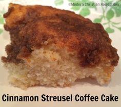 Cinnamon Streusel Coffee Cake from Modern Christian Homemaker