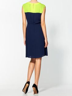 Colorblock Dress - Lyst