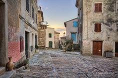 Old Groznjan streets, Croatia