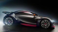 Citroen Survolt, a concept electric racing car produced by Citroën and presented at the 2010 Geneva Motor Show.