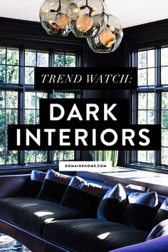 A look at the noir interiors trend plus the key elements and details to consider for getting the look in your home.