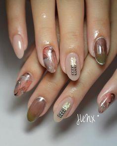 ニュアンス スモーキー in 2019 Nail Polish Designs, Nail Art Designs, Gel Nails, Manicure, Japanese Nail Art, Beautiful Nail Art, Nail Arts, Nail Inspo, Nails Inspiration
