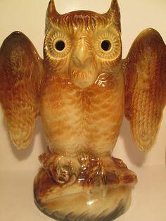 Vintage Kron Ceramic Owl TV Lamp #ebay @MagnumVintage