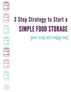 Overwhelmed with food storage? Want to store food you'll actually eat? Grab my simple 3 step strategy to building a simple food storage. Emergency Food Supply, Long Term Food Storage, Data Processing, Water Storage, Disaster Preparedness, Tight Budget, Base Foods, Storage Ideas, Free Food