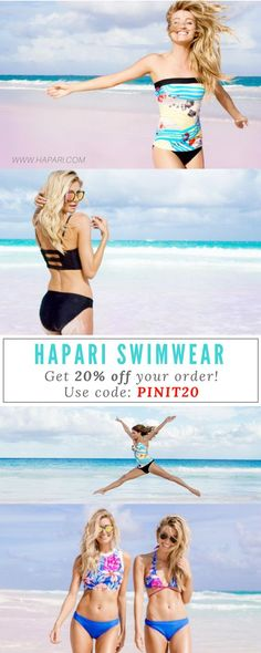 Ready for summer fashion? Grab your favorite bikinis and tankinis as seen on previous swimsuit illustrated model Kyra Santoro and head to the beach! Shop our wide range of swimwear for teens and women of all ages at HAPARI.com. Get 20% off your entire order by using code PINIT20!
