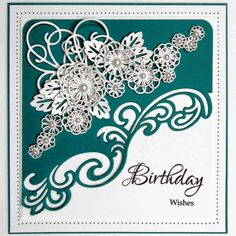 #Birthday wishes card from Creative Expressions! Shop the full range now at C+C: http://www.createandcraft.tv/search/creative%20expressions?fh_location=//CreateAndCraft/en_GB/$s=creative%20expressions&gs=creative%20expressions #cardmaking #papercraft