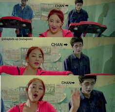 ok so I watched the mv just to see chan but I accidentally ended up liking the song lol Funny Kpop Memes, Kid Memes, Best Kids Watches, Cool Watches, Twice Mv, Chris Chan, Stray Kids Chan, Korean Boy, Lee Know