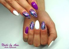 Gel Polish Mr.White & Bombastic Gel Brush by Aneta Bykowska #nails #nail #nailart #art #violet #galaxy #white #amazing