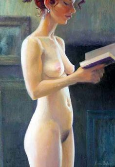 Reading and Art: Piran Bishop People Reading, Woman Reading, Life Drawing, Painting & Drawing, People Art, American Art, Art History, Good Books, Cool Pictures