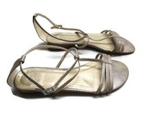 Mexx Womens Sandals Silver Metallic Size 8.5 39 #Mexx #Strappy #Casual