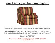 King Hickory  Chatham Chair -English Arm Skirt  You Choose the Fabric