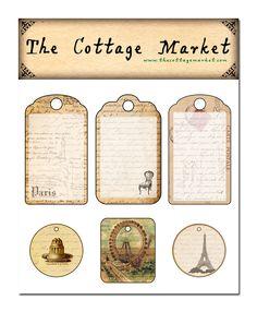 ooolala!!! Free Printable French Paris Tags!!! enjoy!