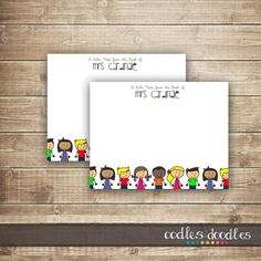 Personalized Teacher Stationary / Teacher Note Cards / by OandD