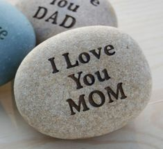 Love YOU  custom engraved rock with you text  home by sjengraving, $30.00