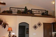 decorating a bedroom plant ledge   plant shelf ideas High Shelf Decorating, Plant Ledge Decorating, Tuscan Decorating, Interior Decorating, Decorating Ideas, Decor Ideas, Ceiling Shelves, Ceiling Decor, Shelving