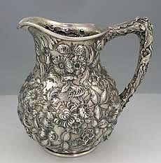 Kirk Repousse Sterling Silver Pitcher