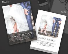 Save the Date Announcement Card for couples Save The Date Templates, Wedding Card Templates, Announcement Cards, Wedding Announcements, Thank You Cards, Dating, Photoshop, Invitations, Words