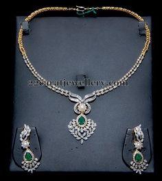Simple Diamond Set by Manjula Jewels | Jewellery Designs