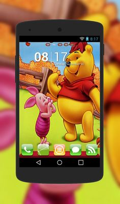 """Winnie The Pooh"" Android Theme. Free download  http://androidlooks.com/theme/t0776-winnie-pooh/  #WinnieThePooh, #android, #androidthemes, #customization, #cartoon, #goLauncher"