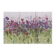 Misty Moors Triptych Canvas #floral #meadow