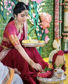 Half Saree Designs, Bridal Blouse Designs, Lehenga Designs, Traditional Blouse Designs, Traditional Outfits, Traditional Sarees, Indian Bridal Sarees, Indian Bridal Wear, Saree Jewellery
