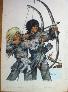 Couverture originale du livre de Michel Grimaud dans la collection Safari Signe de Piste N*22 Chronicles Of Ancient Darkness, Barbarian Dnd, Boy Haircuts Long, Ages Of Man, Abandoned Churches, Sword And Sorcery, Expositions, Prehistory, Pulp Art